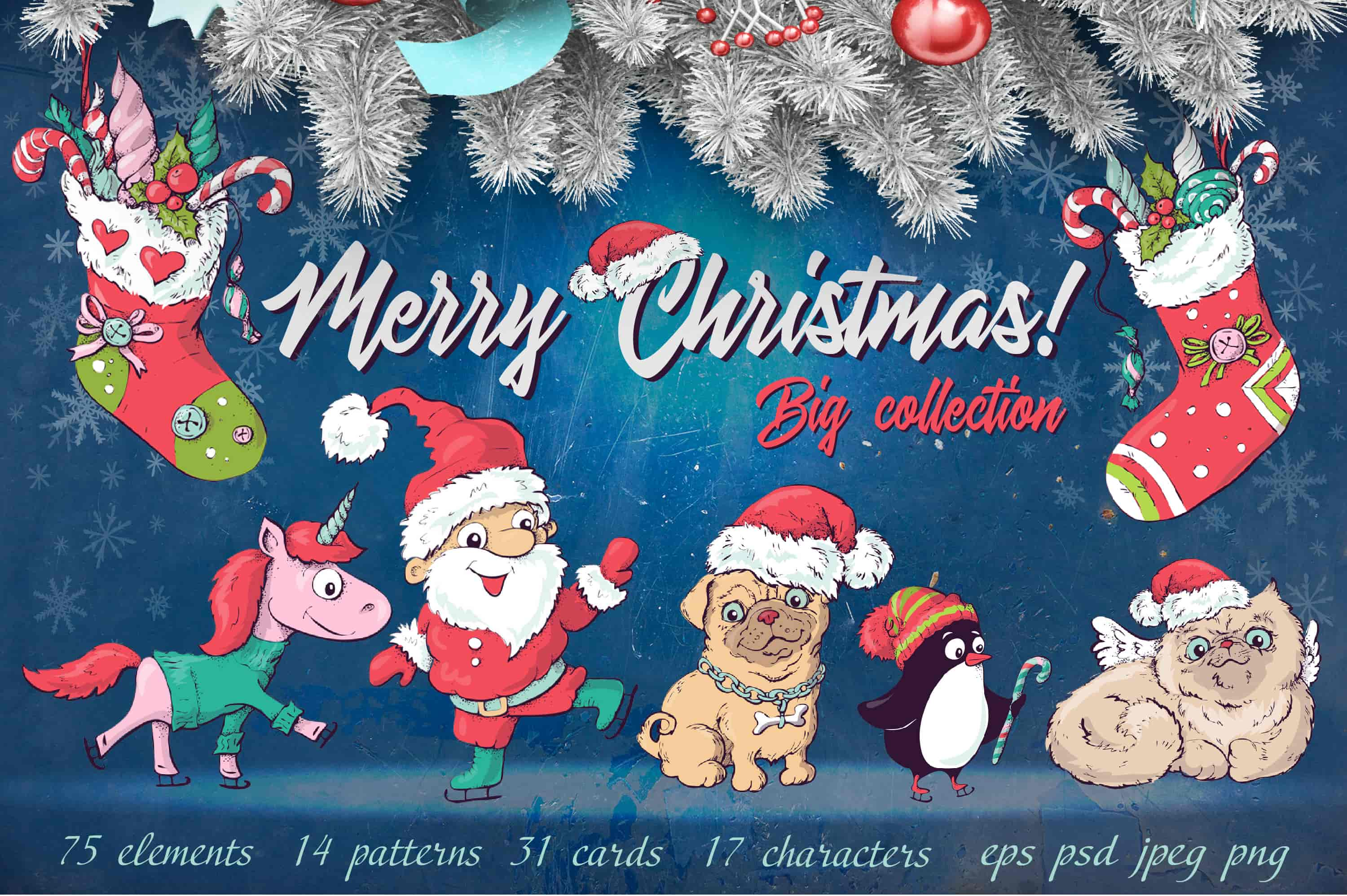 Merry Christmas Images: patterns, cards and items - 1 obl min