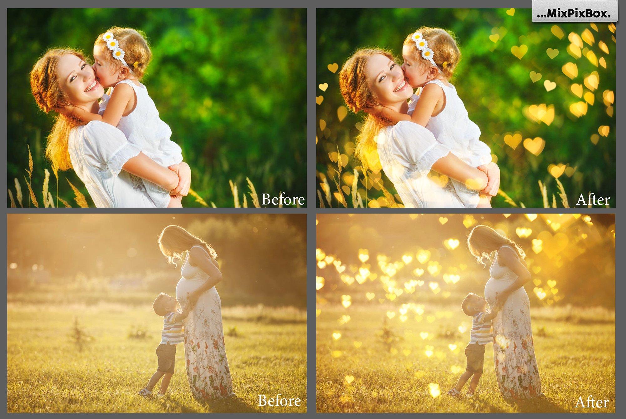 79 Romantic Bokeh Photo Overlays - 2 6