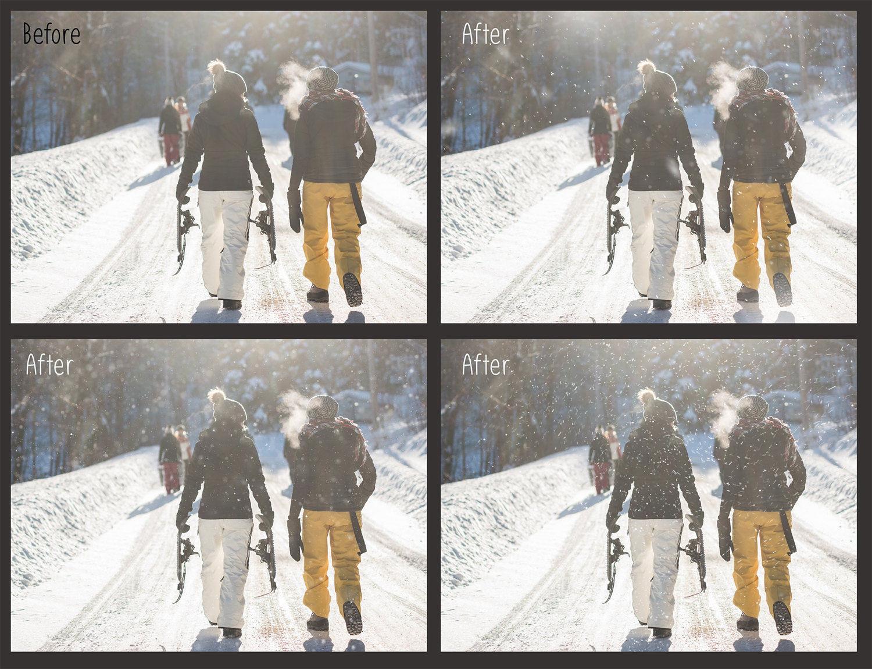 30 Overlays Natural Snow  - $8 - 3 10