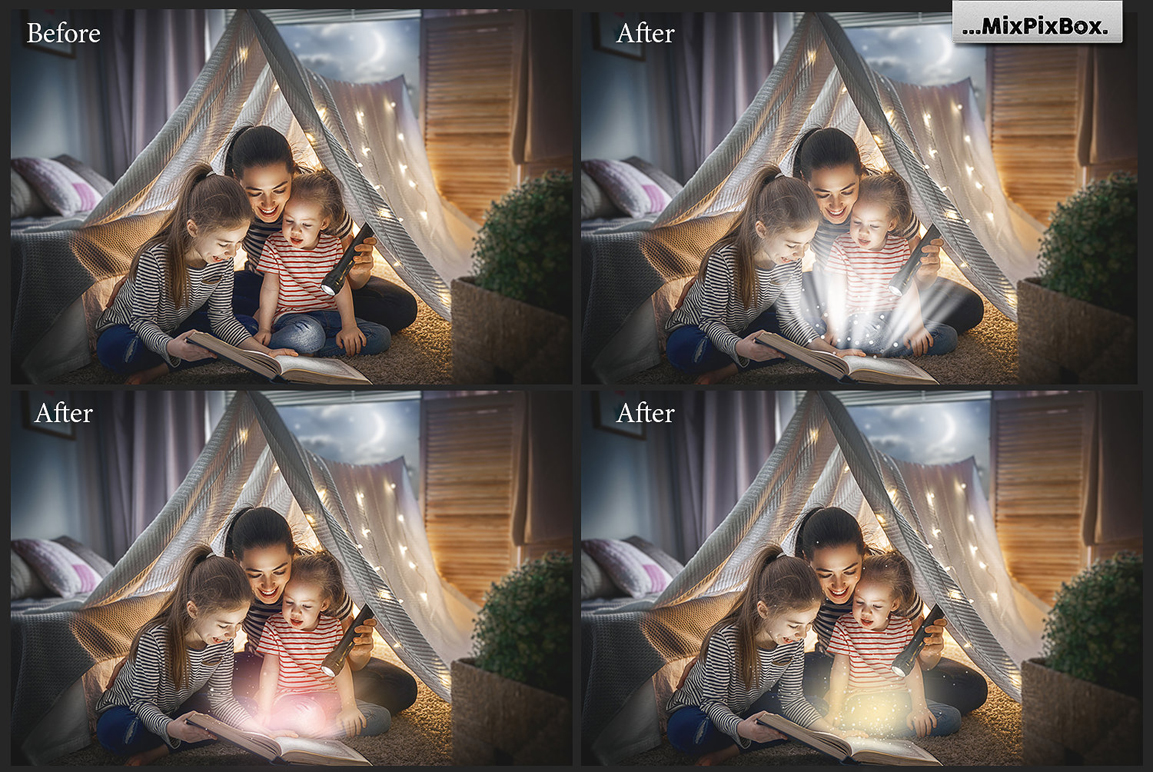Magic Book Light Photo Overlays