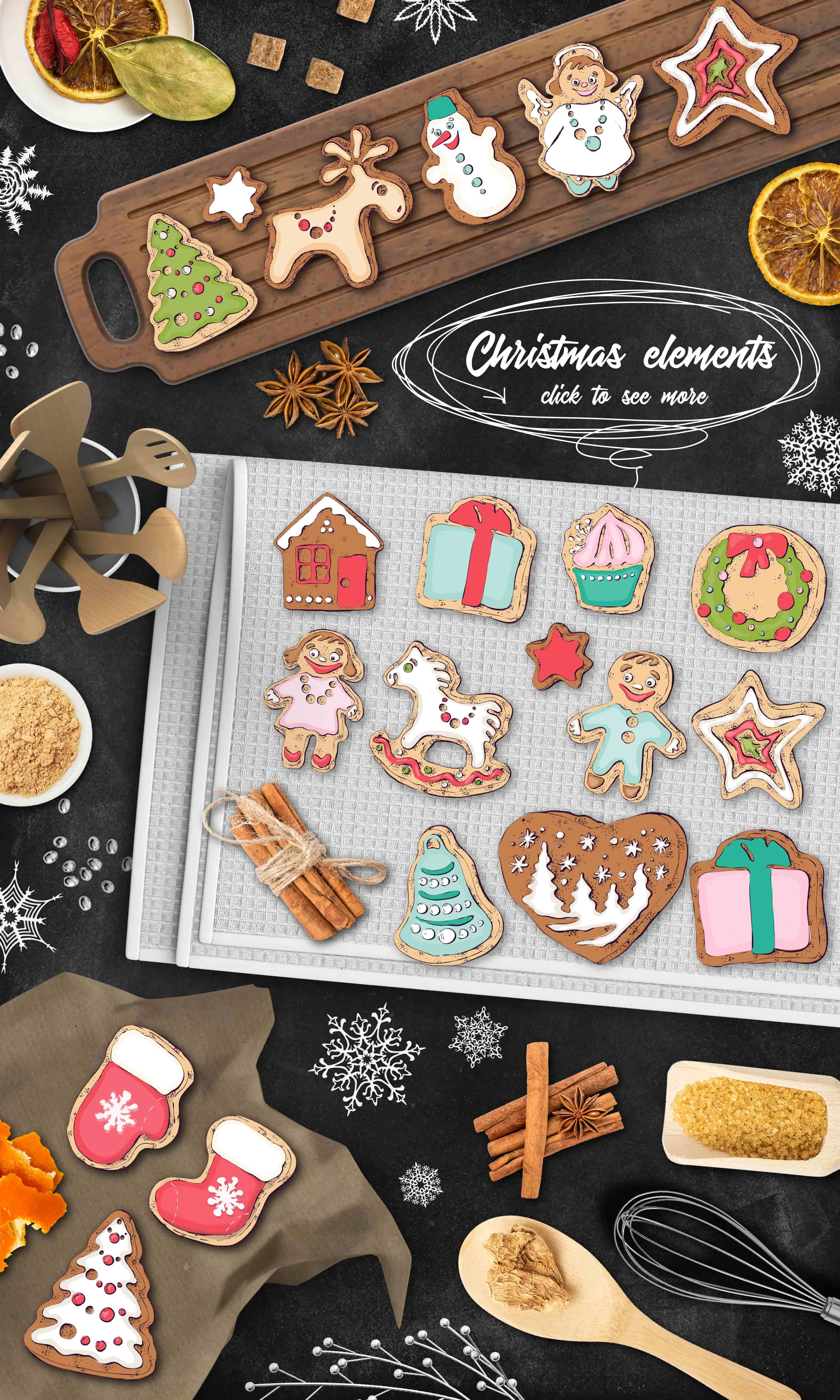 Merry Christmas Images: patterns, cards and items - 4 items2 min