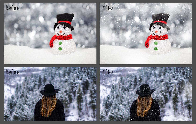 30 Overlays Natural Snow  - $8 - 5 8