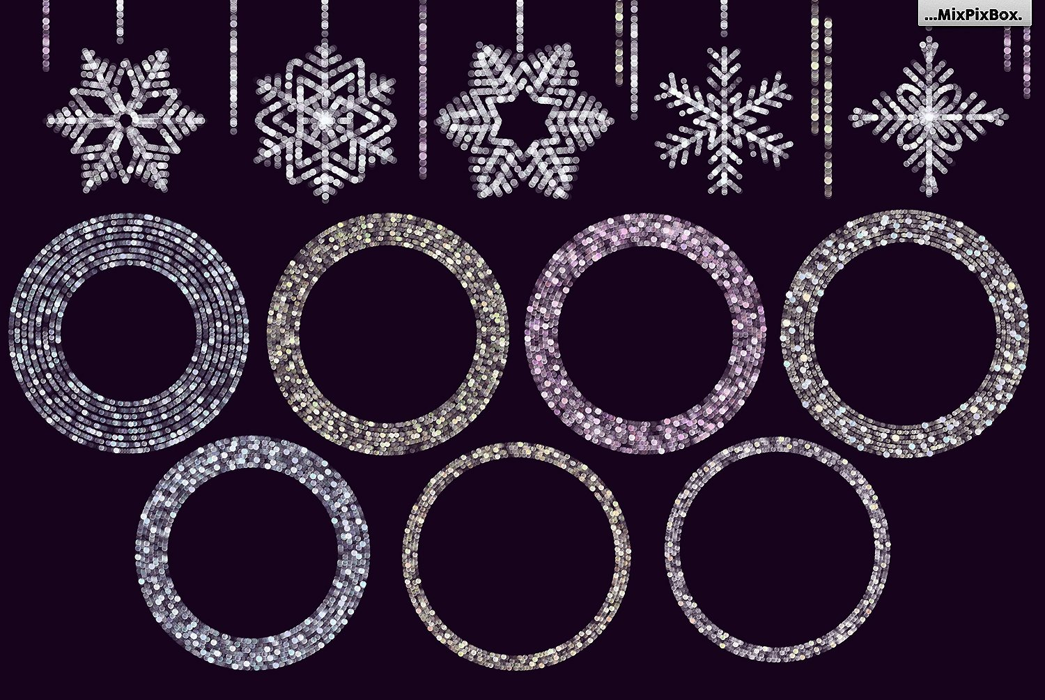 28 Snowflakes Photo Overlays - $8 - 5 9