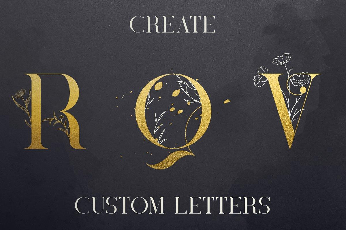 Black Gold Bundle: Serif Font, Elements, Ornaments, Photoshop Styles - $19 - 6