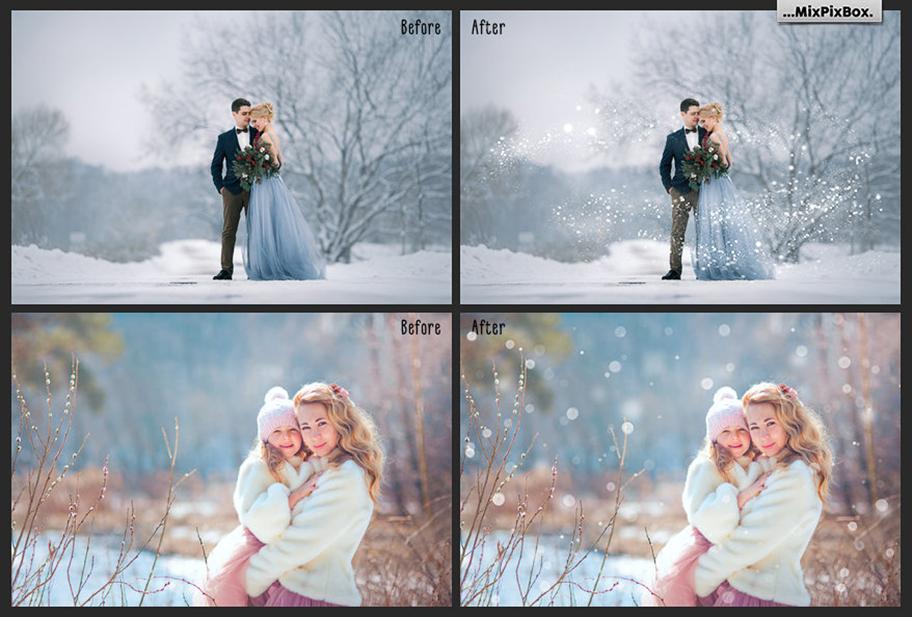30 Overlays Natural Snow  - $8 - 6 4