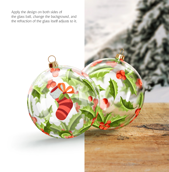Christmas Ball Animated Mockups Set - $12 - 6 6