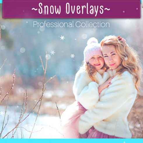 52 Realistic Snow Photo Overlays - 600 19 490x490
