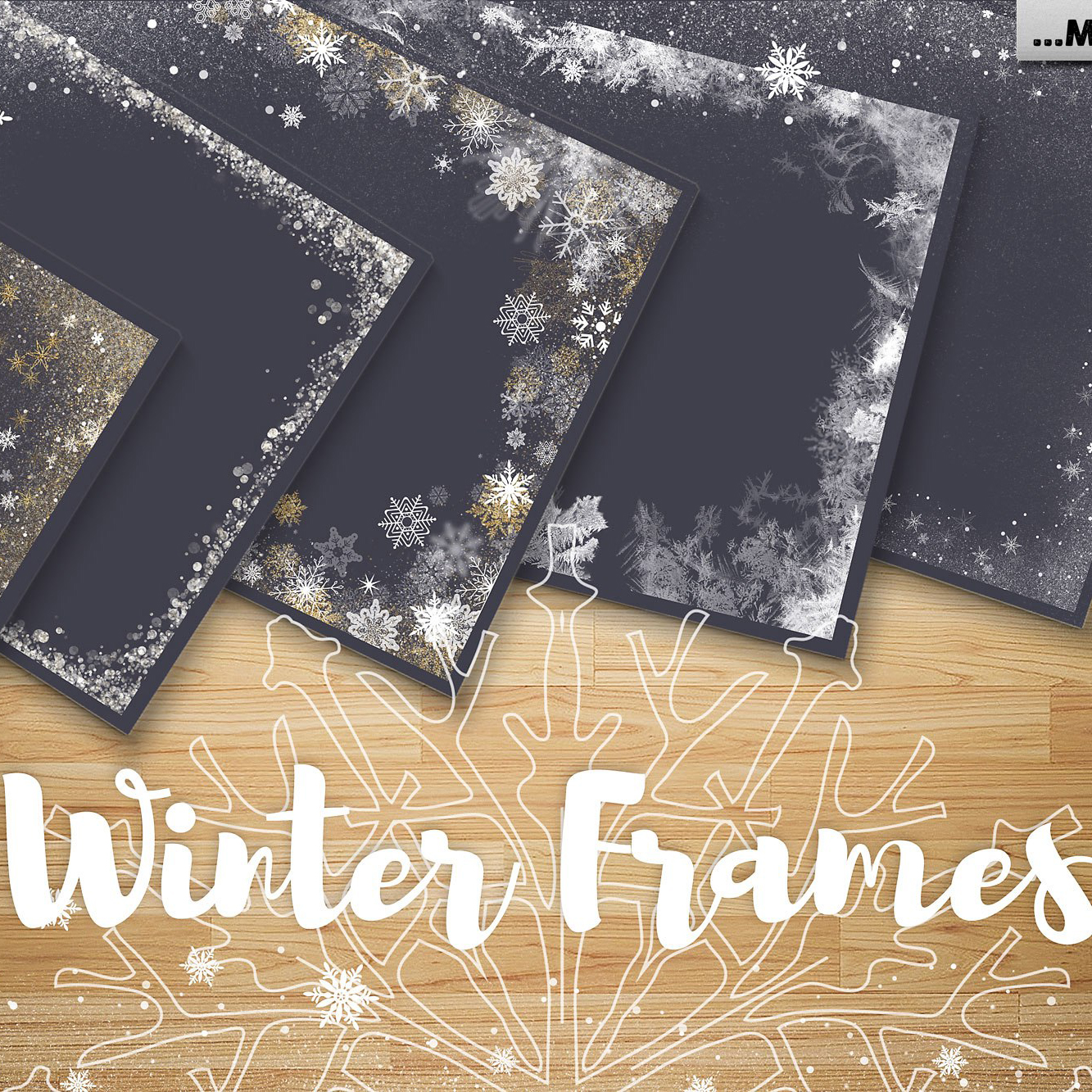 24 Gold Snowflakes PNG Gold & Cooper - 600 2