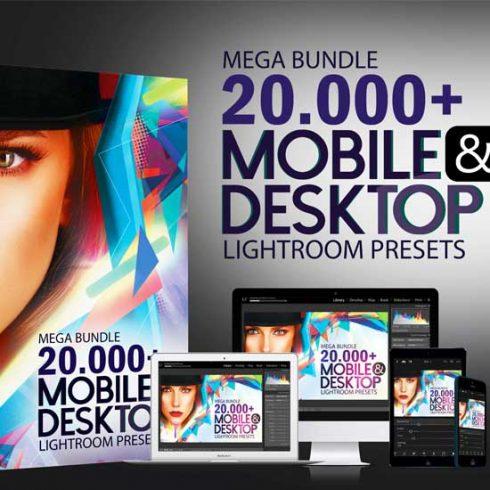 20,000+ Mega bundle Mobile and Desktop Lightroom Presets - 600 8 490x490