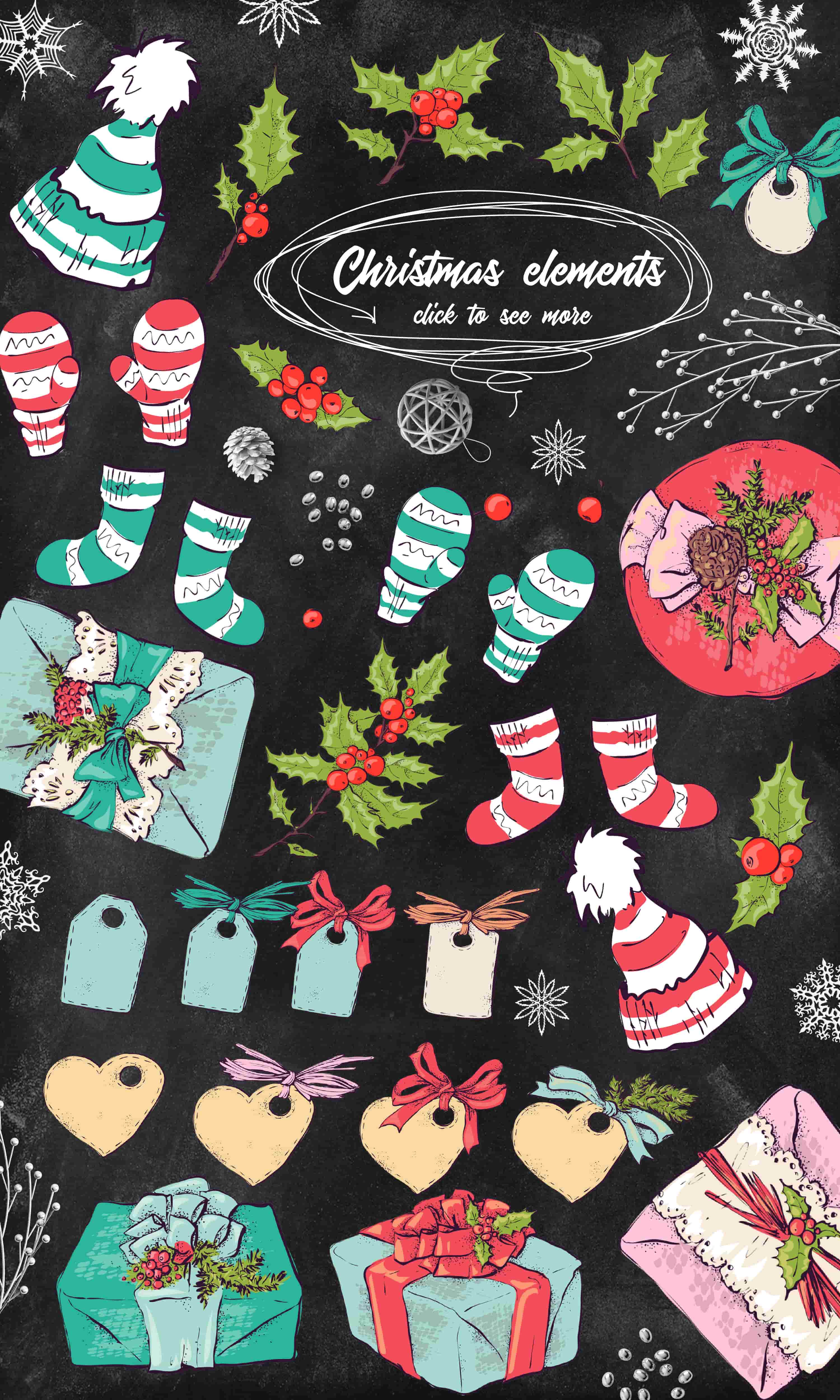 Merry Christmas Images: patterns, cards and items - 6 items1 min