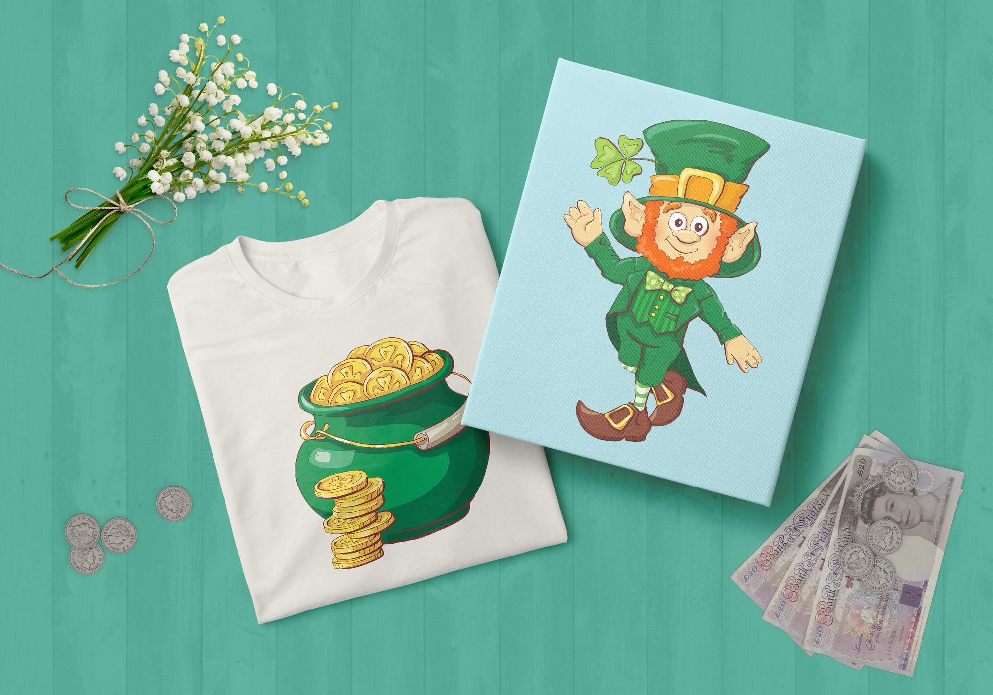 Leprechaun St. Patrick's Day Illustrations Set - $21 - 7 prewiew