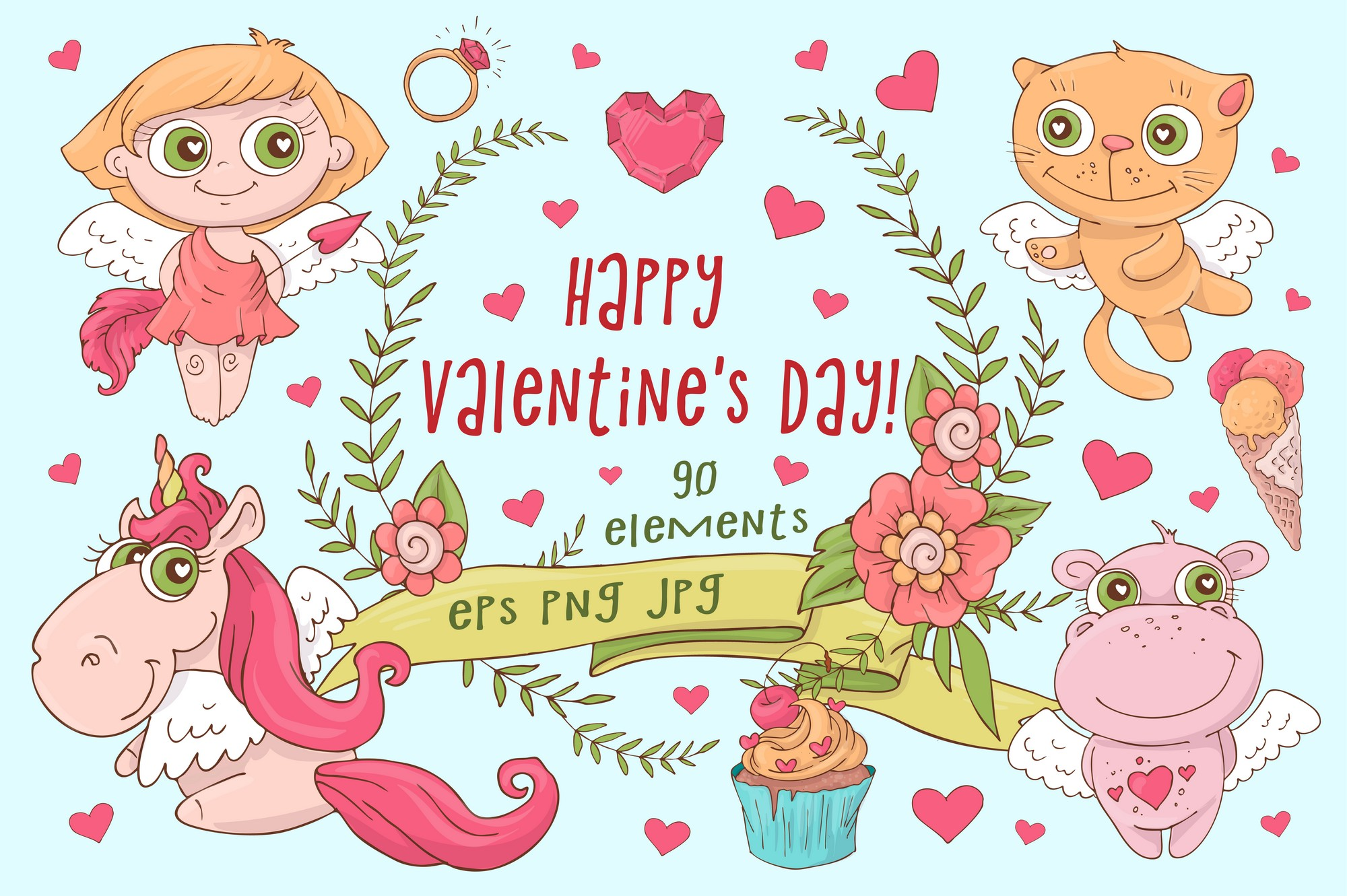 Valentine's Day clipart Collection: 90 Items - $15 - Image00001 2