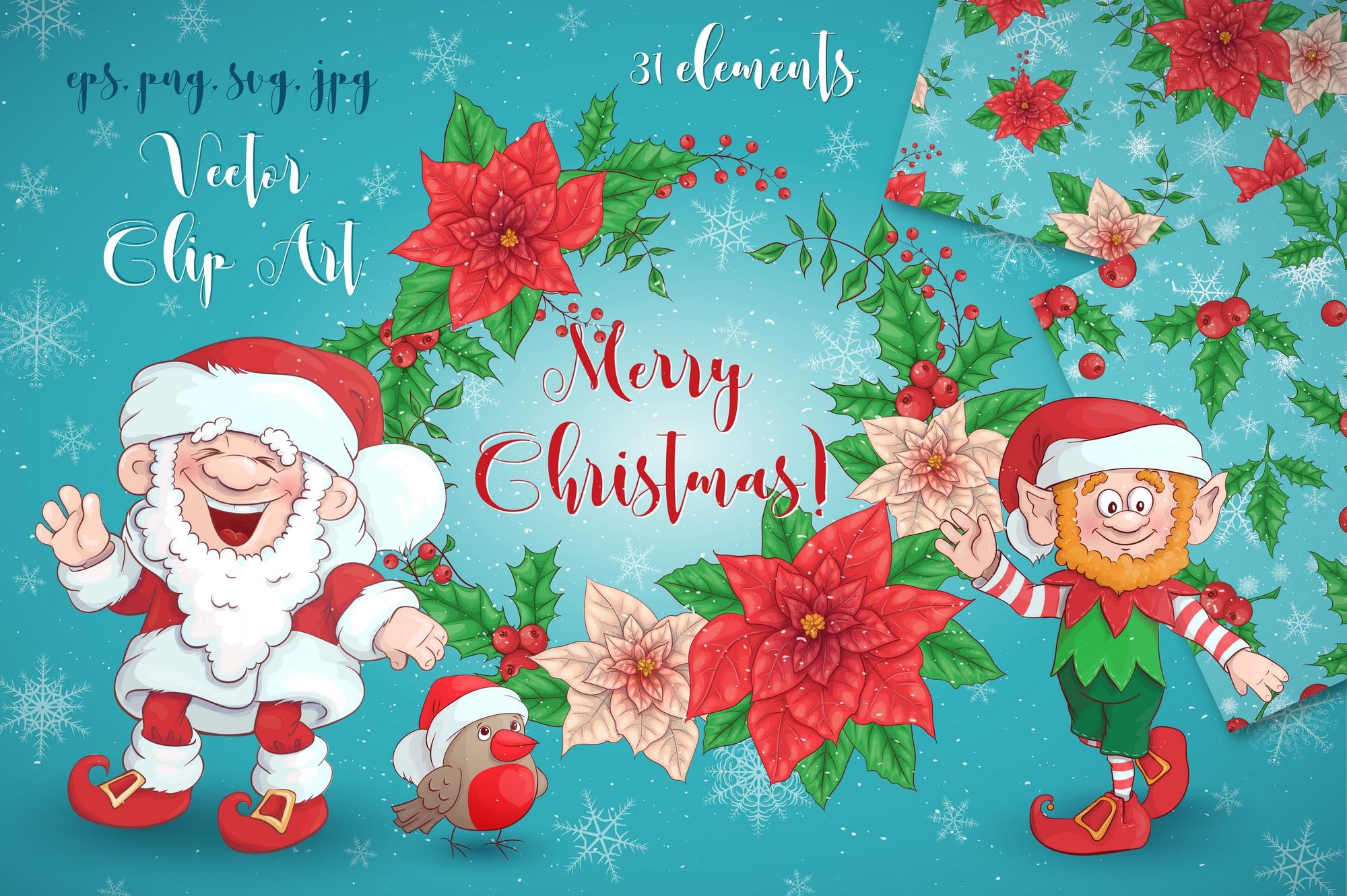 Merry Christmas Graphics Bundle - Image00001
