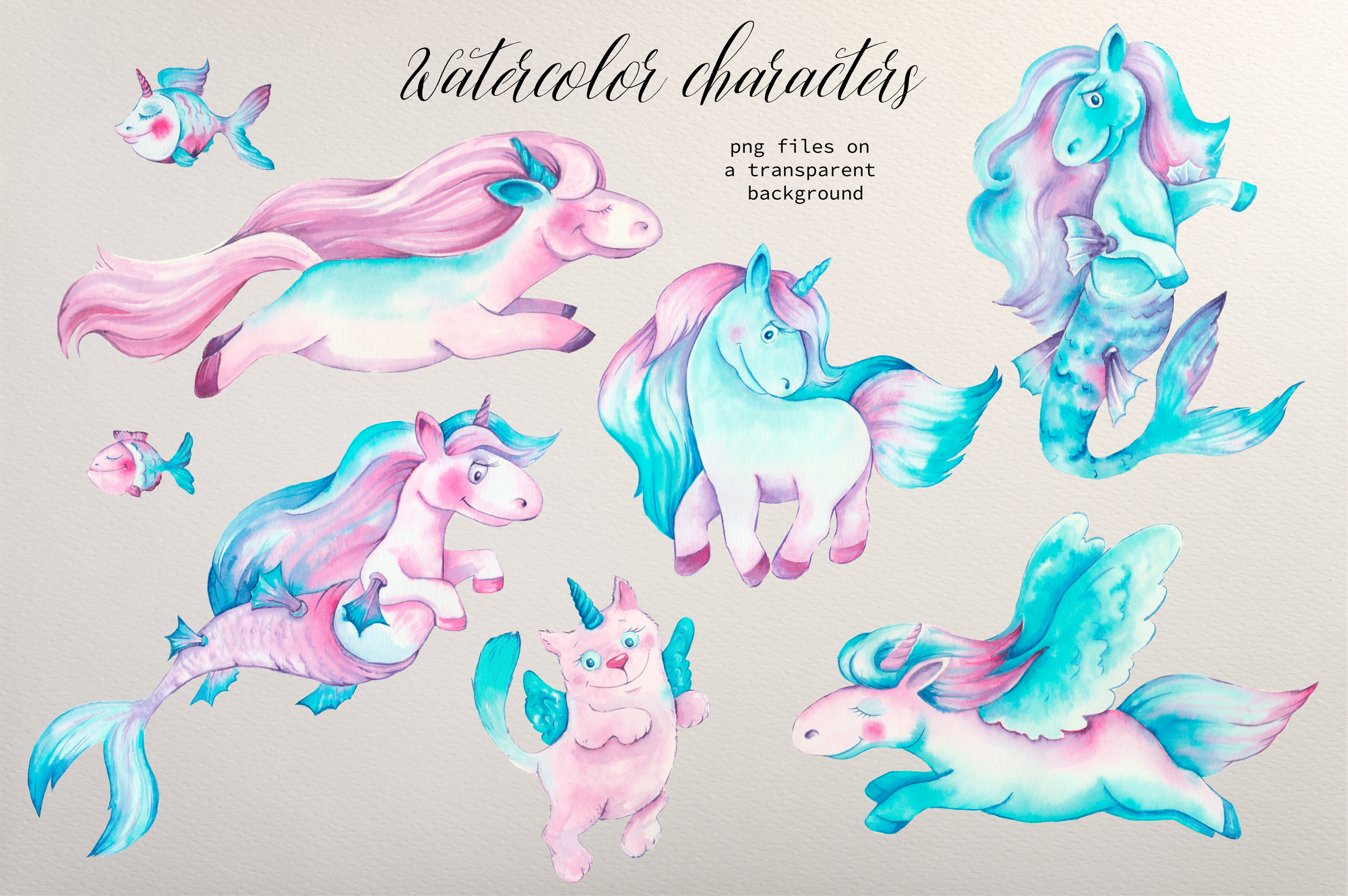 Unicorn Vectors: Patterns, Characters and Items - $18 - Image00005
