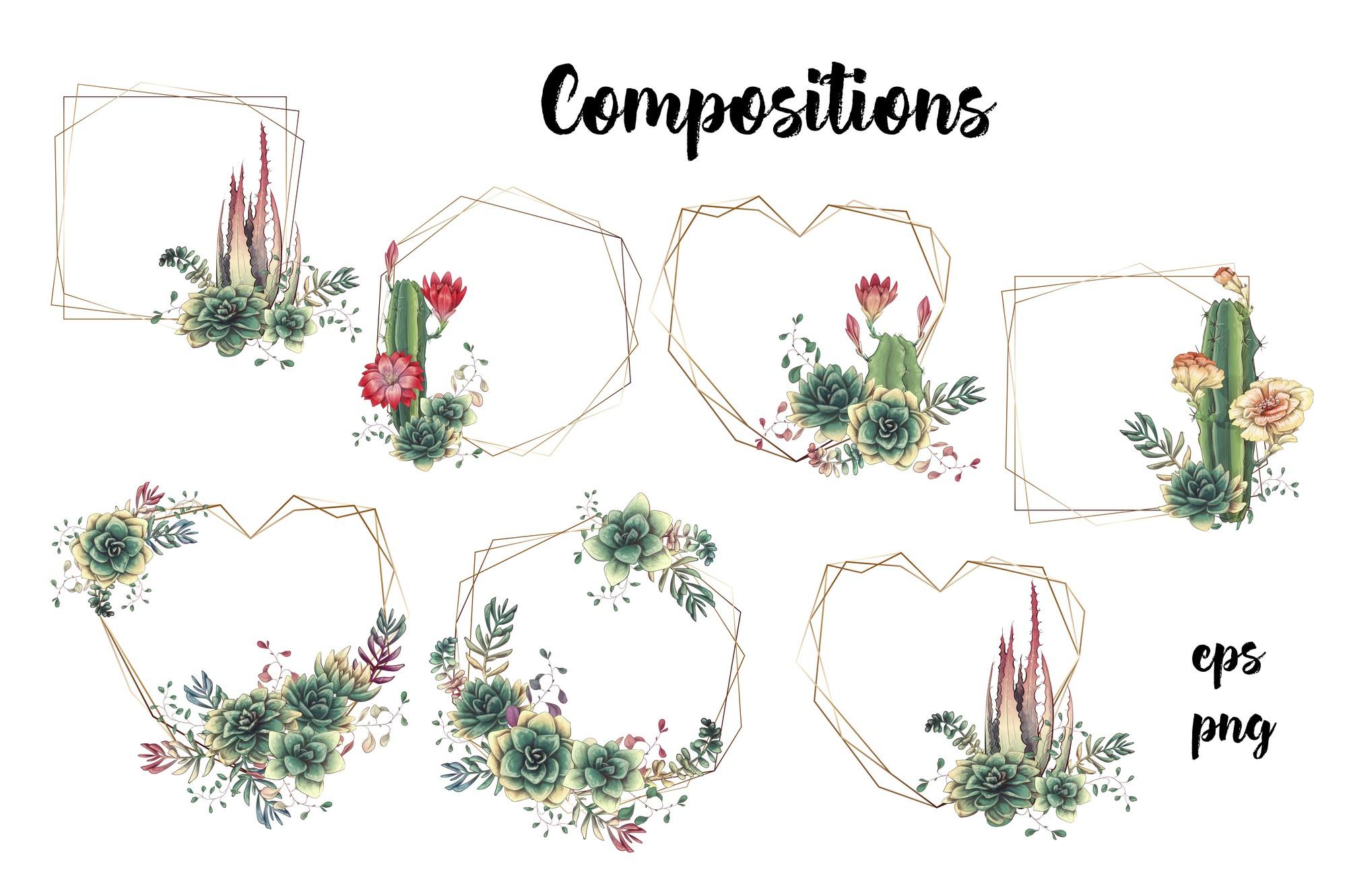 Cute Cactus Clipart: Cacti & Succulents Vectors - Image00006 1