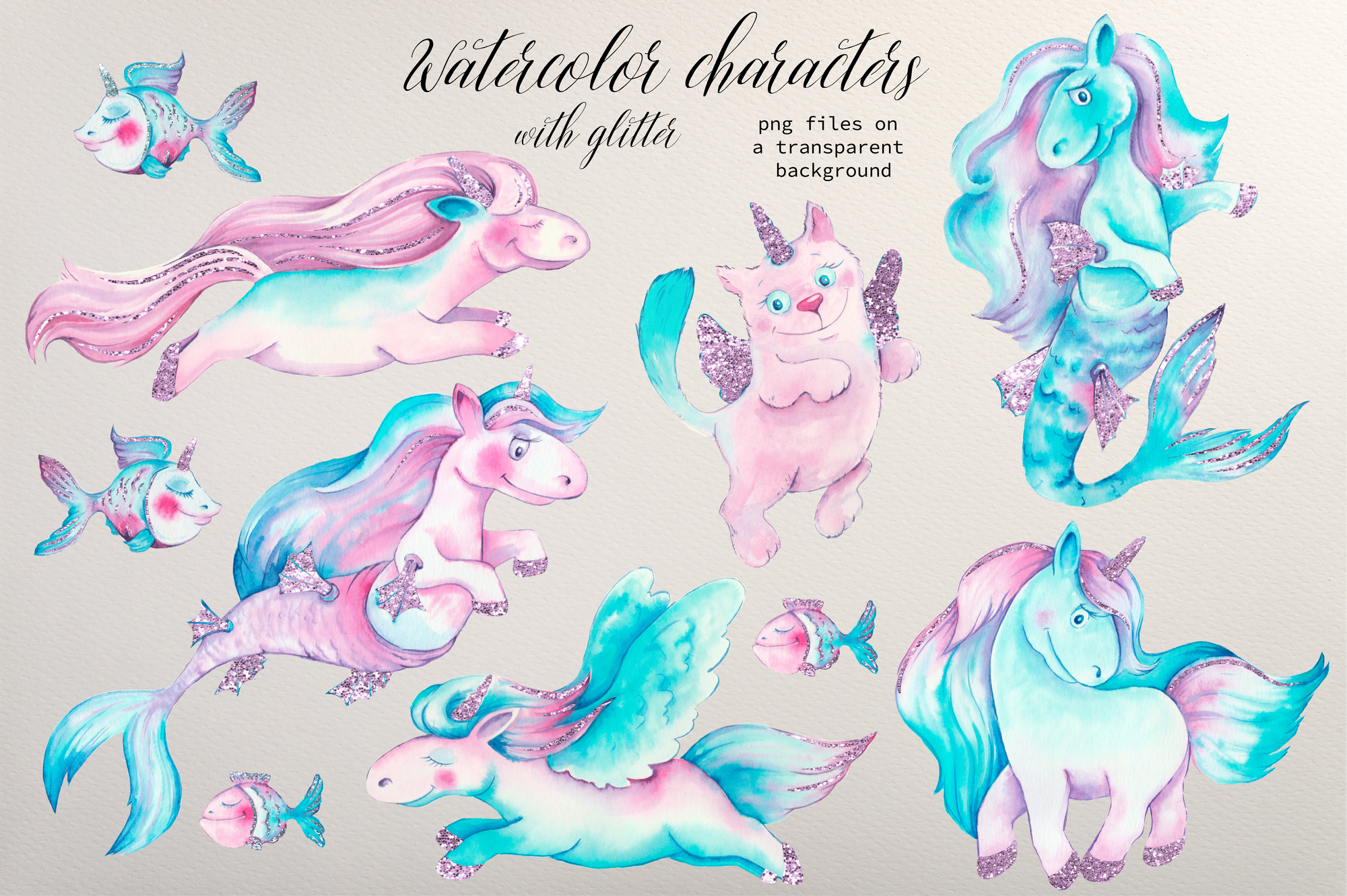 Unicorn Vectors: Patterns, Characters and Items - $18 - Image00006