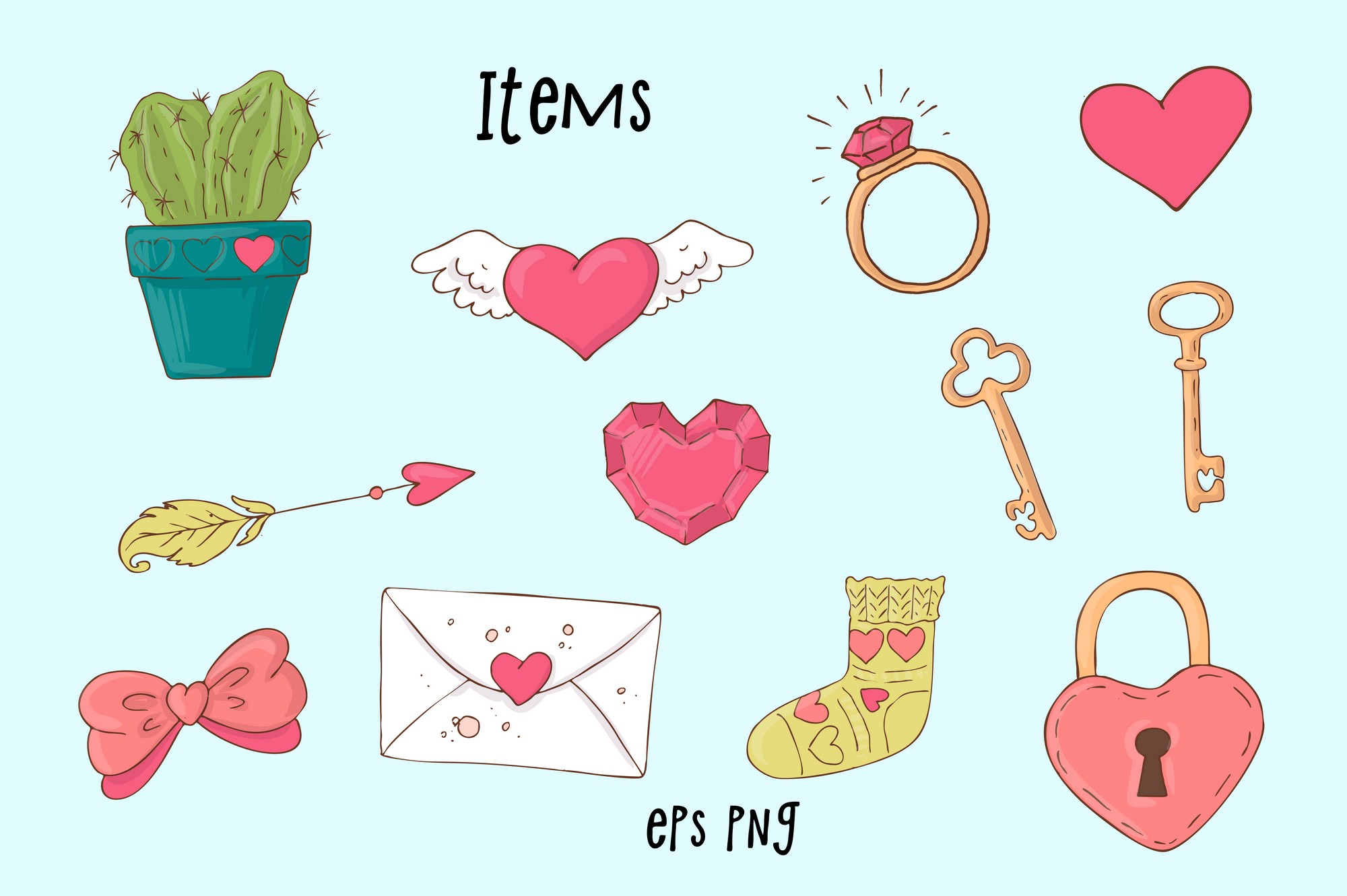 Valentine's Day clipart Collection: 90 Items - $15 - Image00008 2