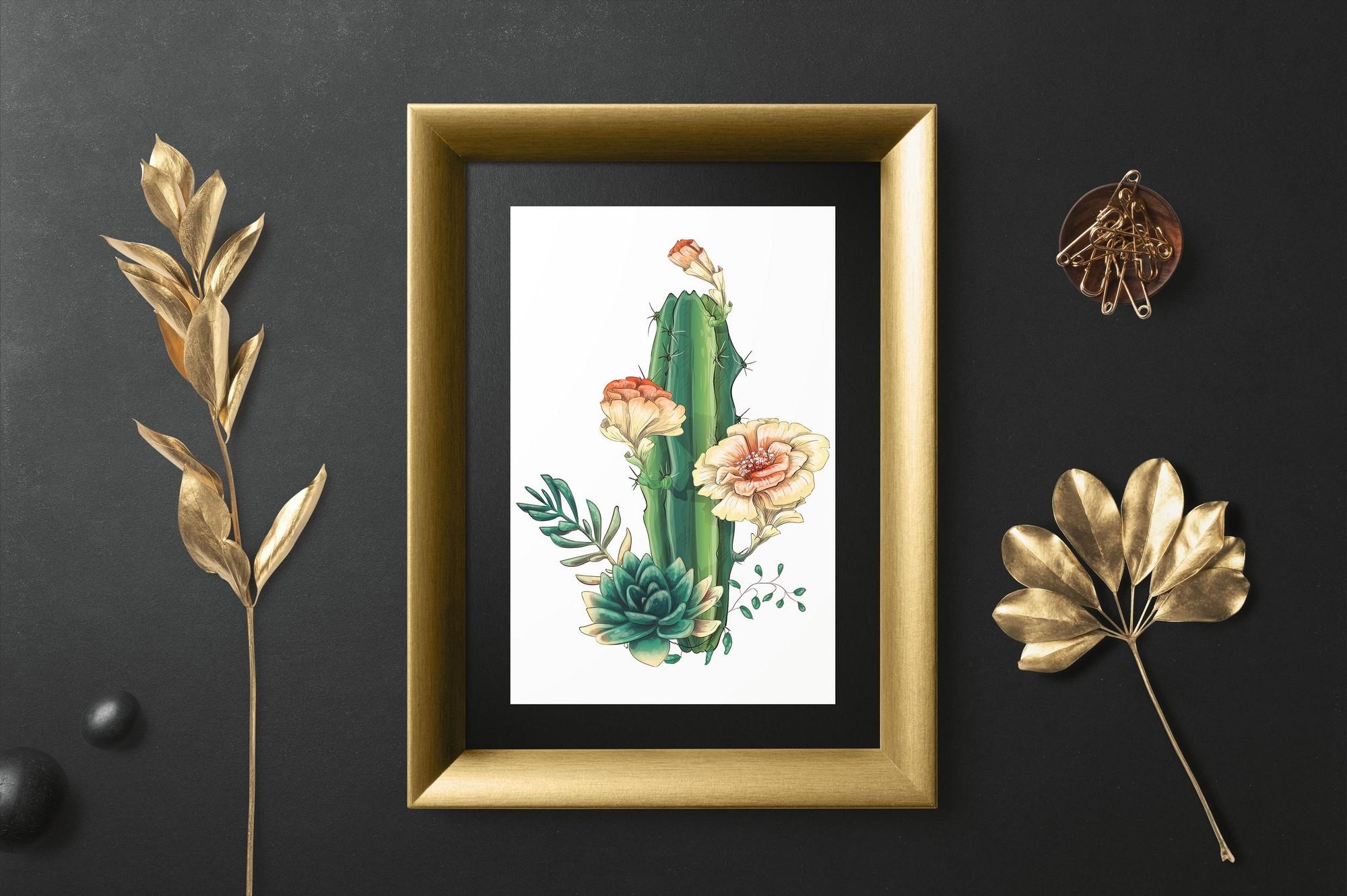 Cute Cactus Clipart: Cacti & Succulents Vectors - Image00009 1