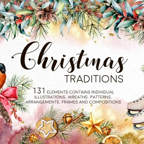 Christmas Traditions Watercolor Set - $16 - Untitled 1 1 490x490