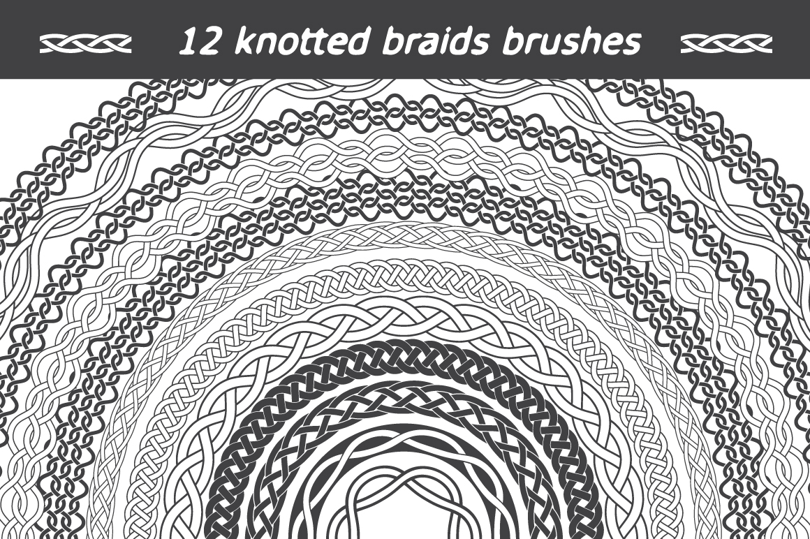 12 Knotted Braids Brushes - $6 - brushes