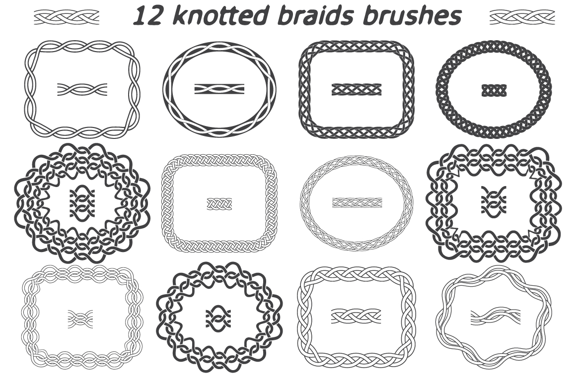 12 Knotted Braids Brushes - $6 - brushes1