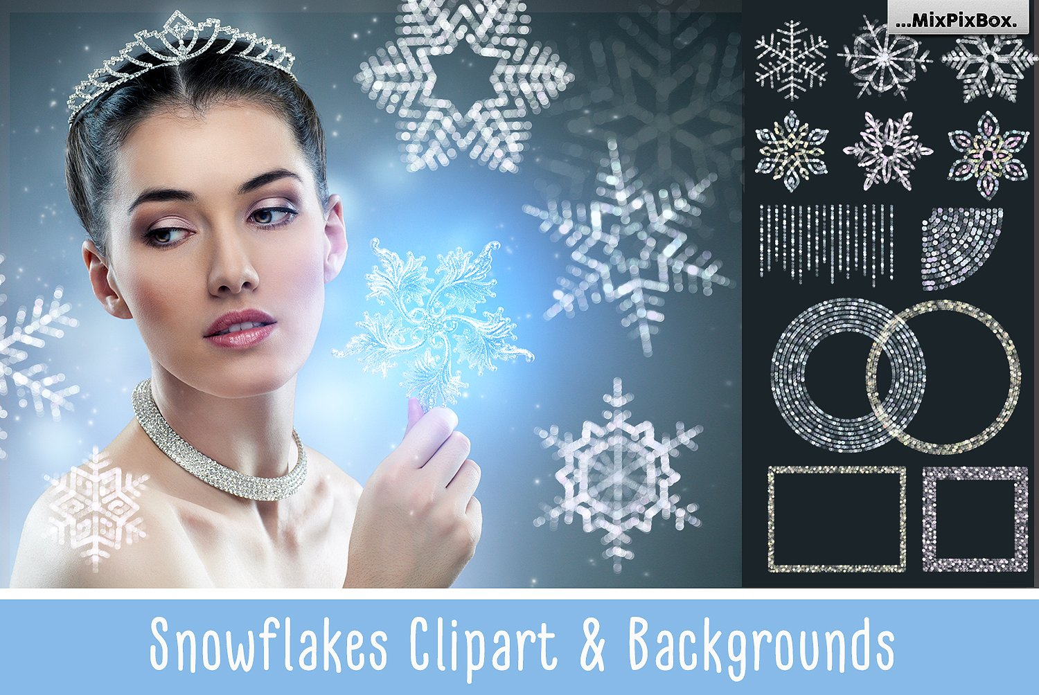 28 Snowflakes Photo Overlays - $8 - cover 6