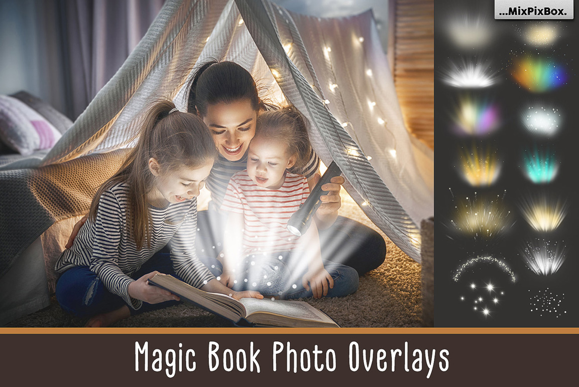 Magic Book Light Photo Overlays - $8 - magic book first image