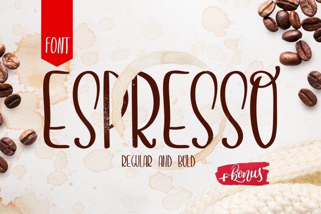 Espresso Handmade Font - $13 - 01 title