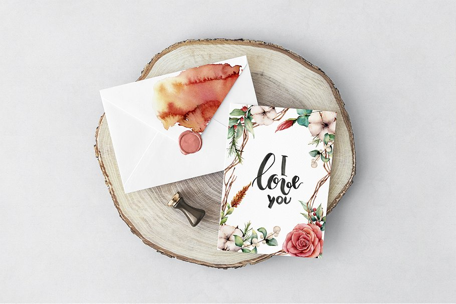 Fall in Love Watercolor bundle - $16 - 02 1 1