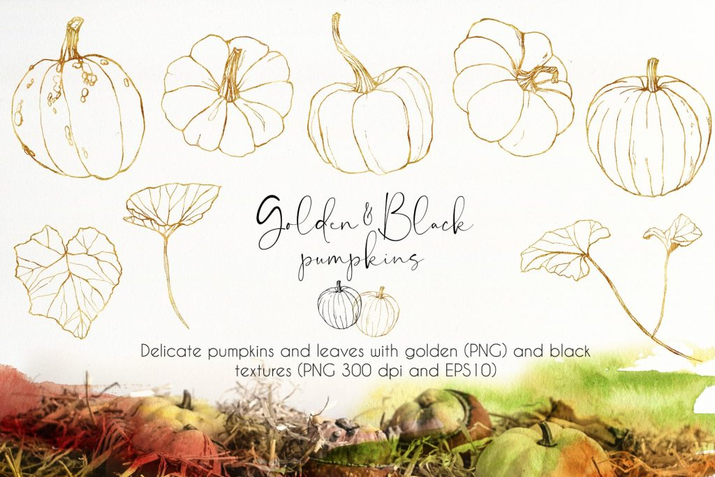 Watercolor Pumpkins Bundle - $12 - 04 min 1