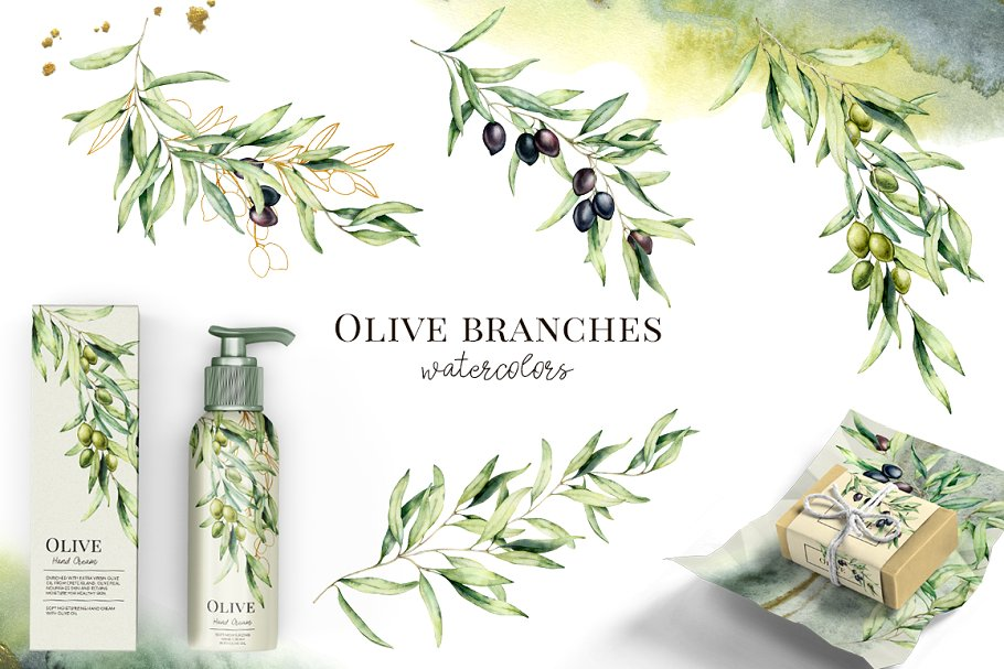 Olives Watercolor Collection - $15 - 07 1 2