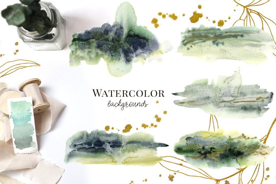 Olives Watercolor Collection - $15 - 07 2