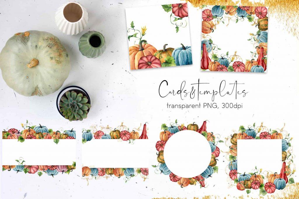 Watercolor Pumpkins Bundle - $12 - 08 min 1