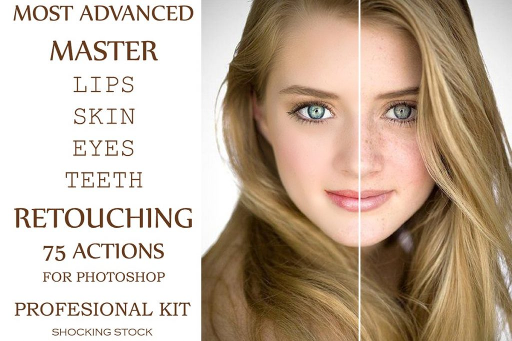 75 Skin Retouching Photoshop Actions - $20 - 1 1 2
