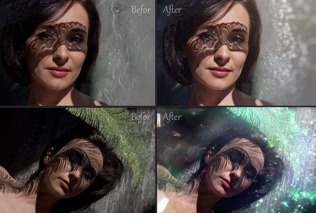 100 Photo Overlays Glitter Effect - 1 1