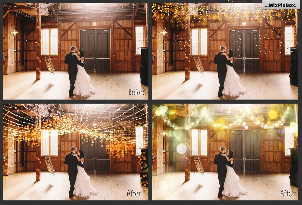 100 Golden Lights Photo Overlays - $9 - 1 5