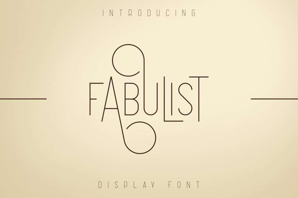 Fabulist Display Font - $15 - 1 9