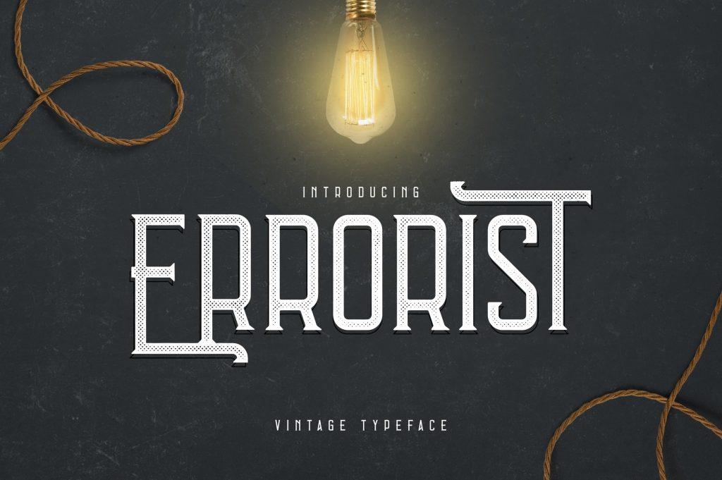 Vintage Typeface Errorist - 3 styles - $15 - 1 min
