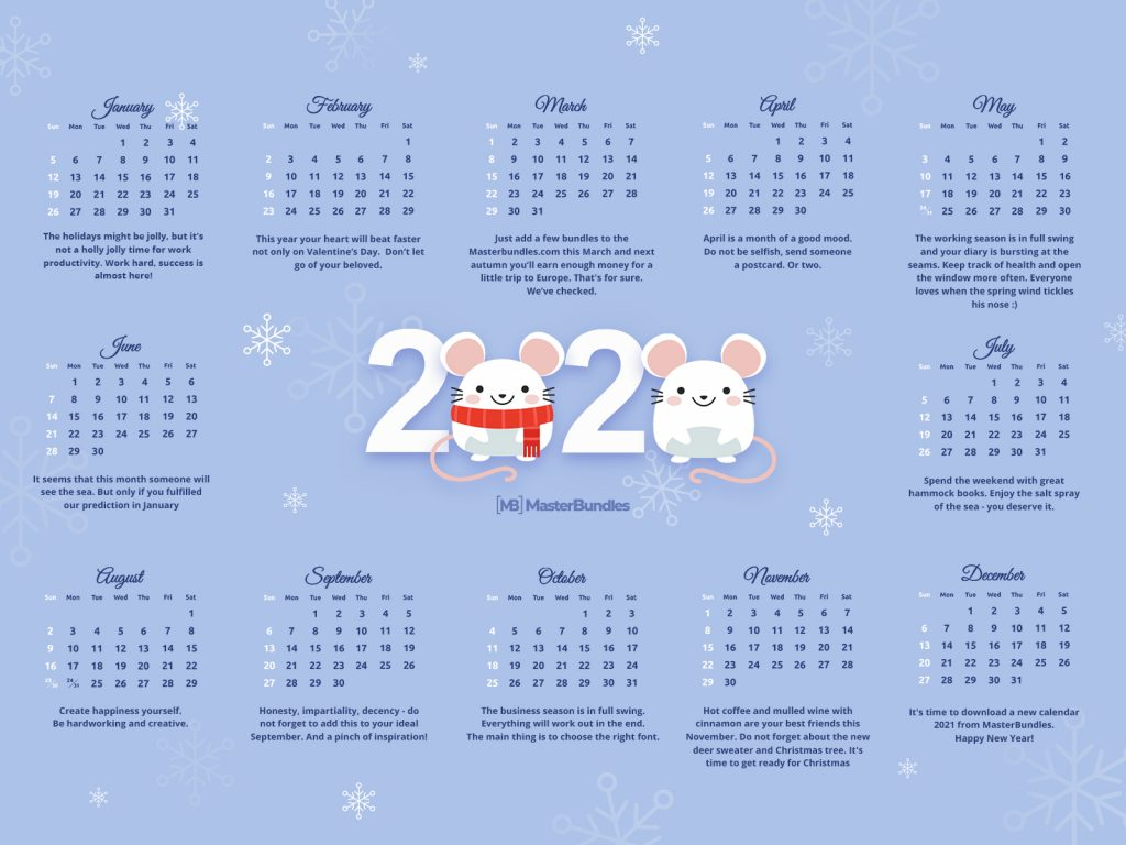 30+ Best Calendar Templates in 2020. Free and Premium - 1600×1200 2