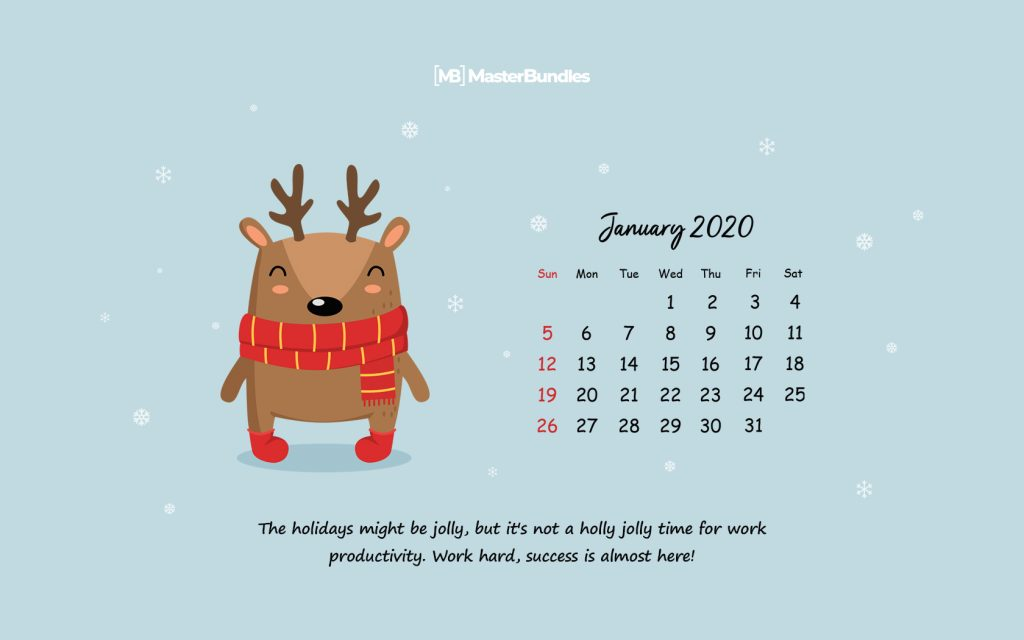 Free January 2020 Printable Calendar & Wallpapers - New Year, New Beginnings - 1680×1050 1