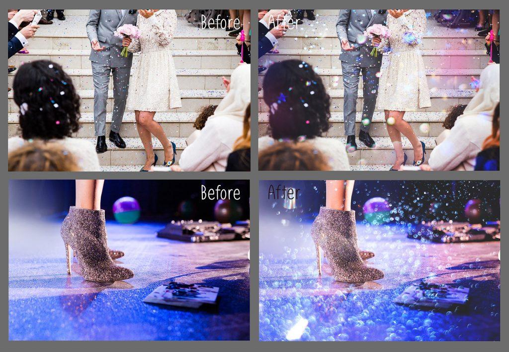 100 Photo Overlays Glitter Effect - 3 1