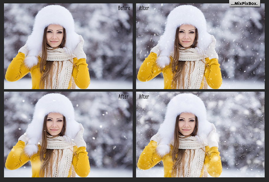 52 Realistic Snow Photo Overlays - 3