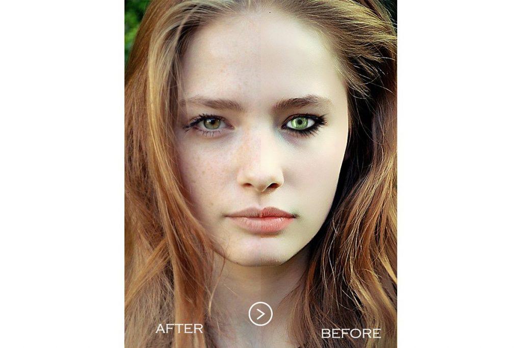 50 Photoshop Actions Retouching Skin BUNDLE, Swatches, Brushes - 6 1 3