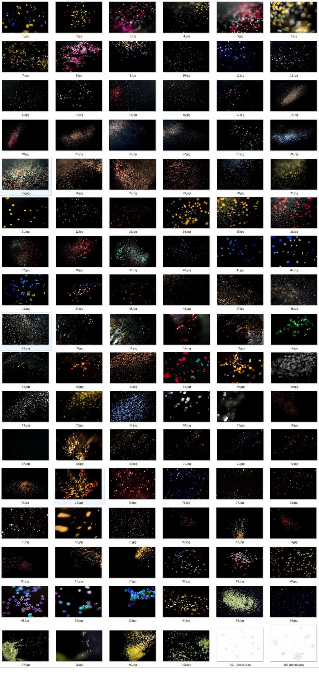 100 Photo Overlays Glitter Effect - 6