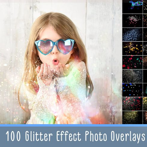 100 Photo Overlays Glitter Effect - 600 1 490x490