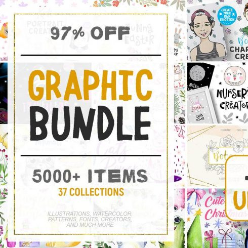 Graphic Bundle 5000 items + in 1! - 600 16 490x490