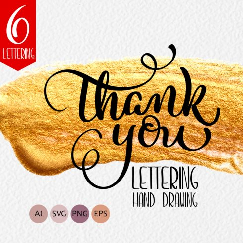 Thank You Calligraphy Lettering Collection - $4 - 600 18 490x490