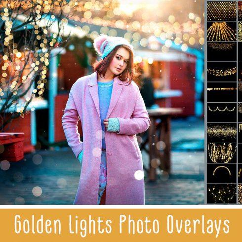 100 Golden Lights Photo Overlays - $9 - 600 21 490x490