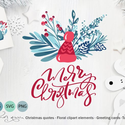 Christmas Floral Holiday Elements - $9 - 600 24 490x490
