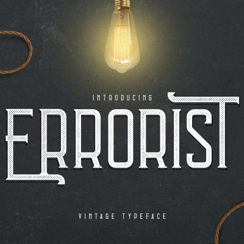 Vintage Typeface Errorist - 3 styles - $15 - 600 3 490x490